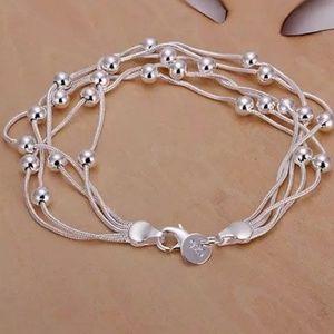 Jewelry - 925 sterling silver plated bracelet, silver